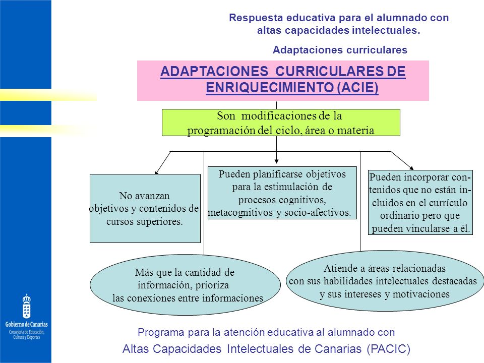 ADAPTACIONES CURRICULARES DE ENRIQUECIMIENTO (ACIE)