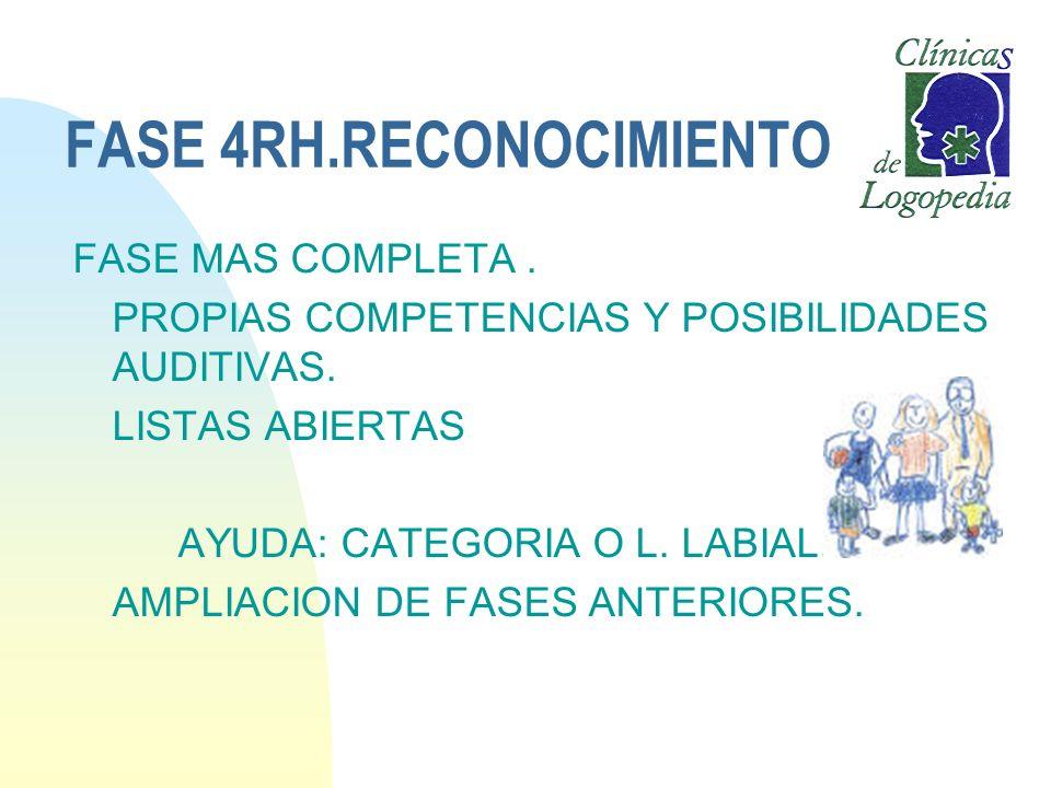 FASE 4RH.RECONOCIMIENTO