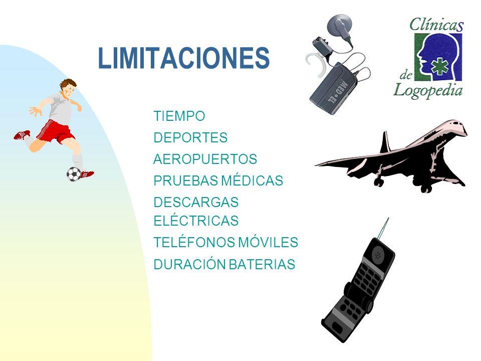 LIMITACIONES TIEMPO DEPORTES AEROPUERTOS PRUEBAS MÉDICAS