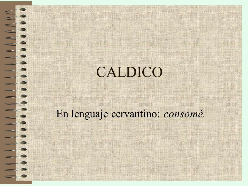 En lenguaje cervantino: consomé.