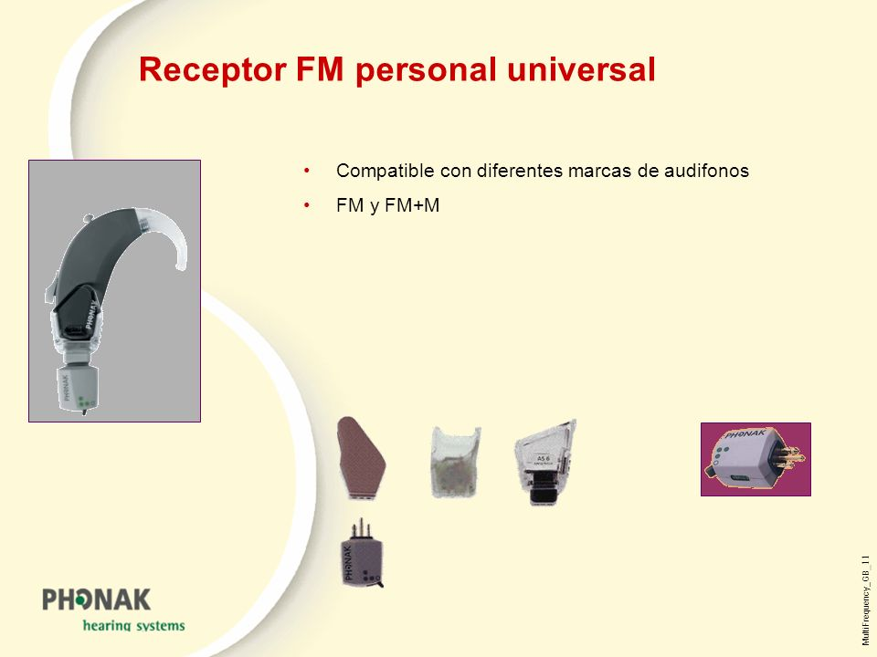 Receptor FM personal universal