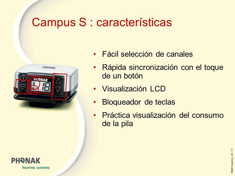 Campus S : características