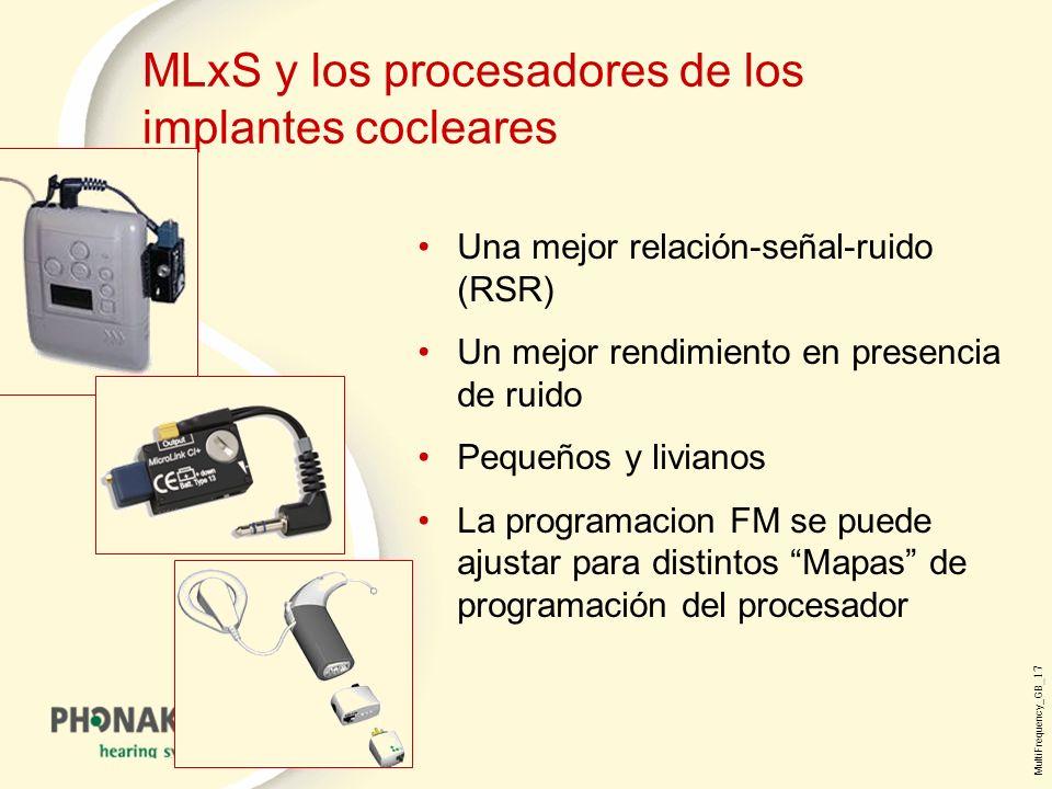 MLxS y los procesadores de los implantes cocleares
