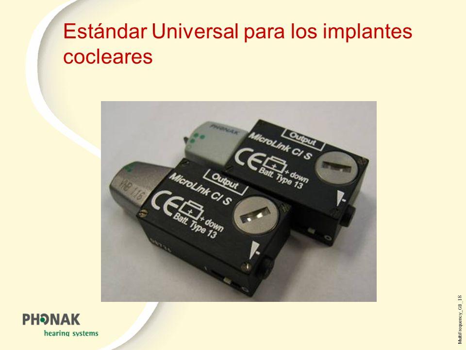 Estándar Universal para los implantes cocleares