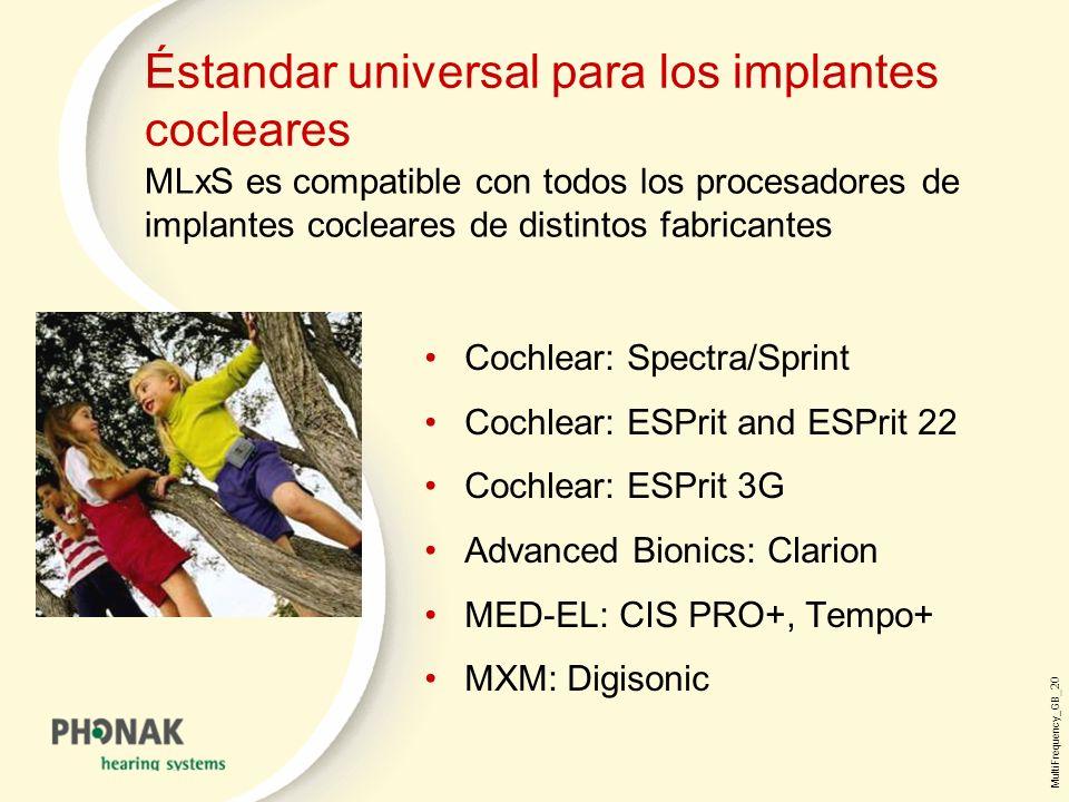 Éstandar universal para los implantes cocleares