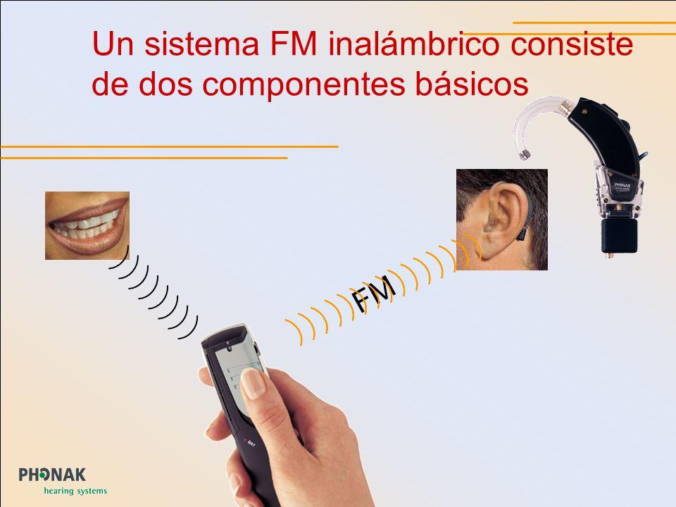 Un sistema FM inalámbrico consiste de dos componentes básicos