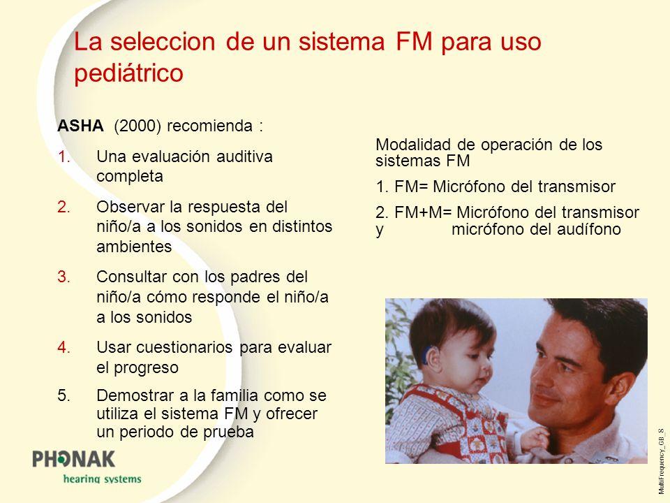 La seleccion de un sistema FM para uso pediátrico