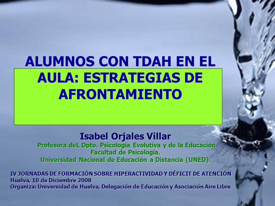 ALUMNOS CON TDAH EN EL AULA: ESTRATEGIAS DE AFRONTAMIENTO