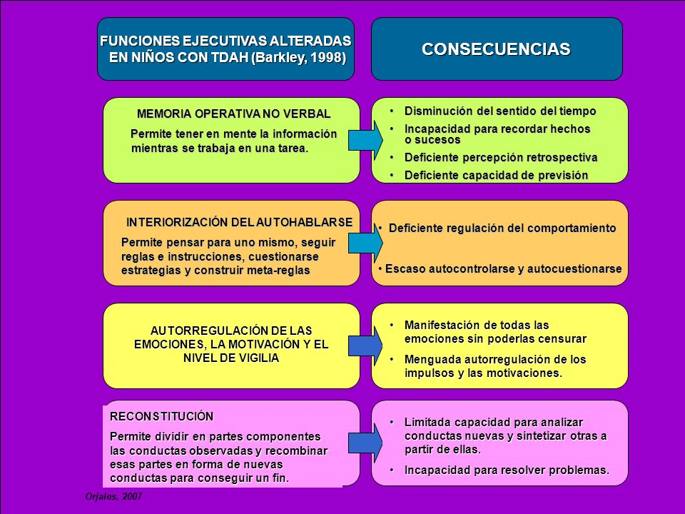 CONSECUENCIAS FUNCIONES EJECUTIVAS ALTERADAS