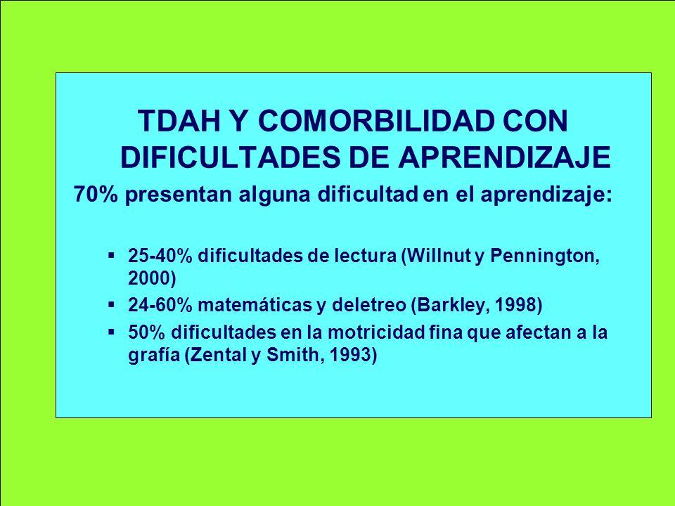 TDAH Y COMORBILIDAD CON DIFICULTADES DE APRENDIZAJE