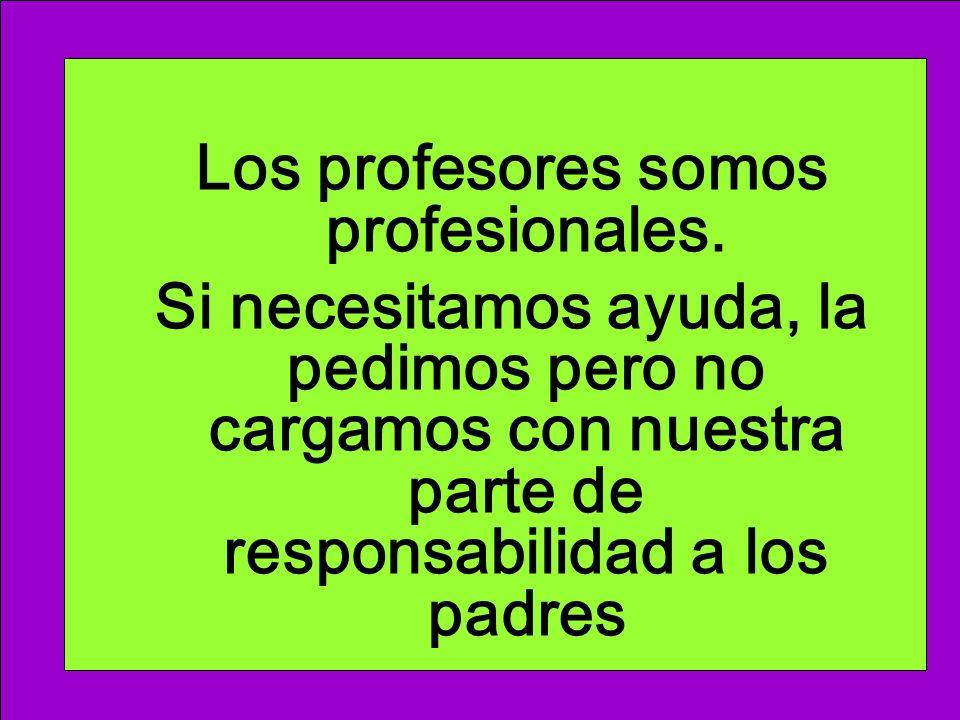 Los profesores somos profesionales.