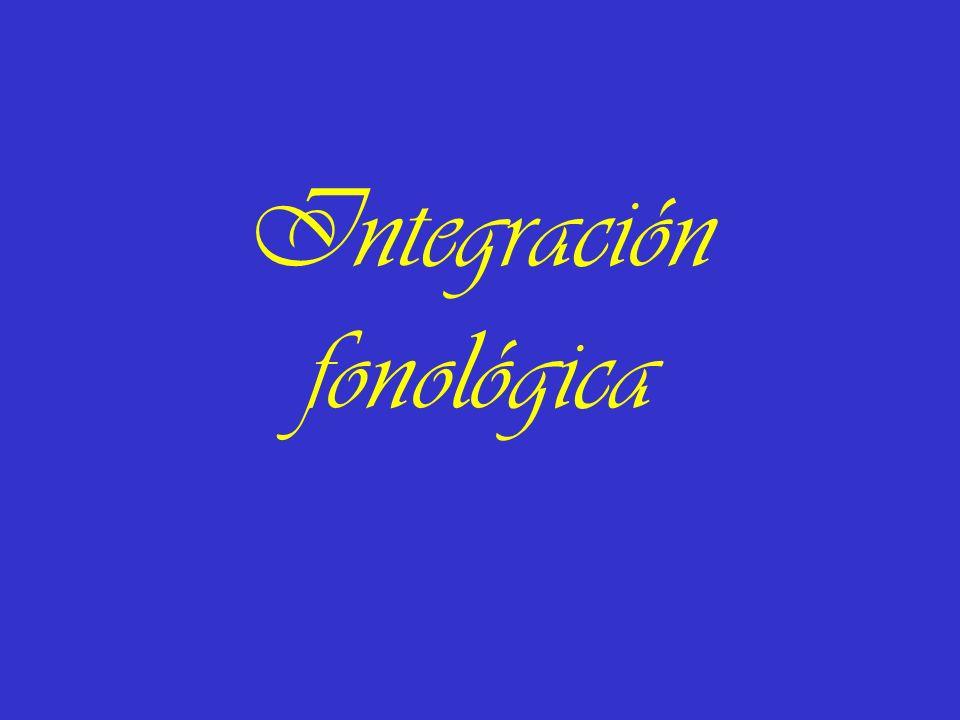 Integración fonológica