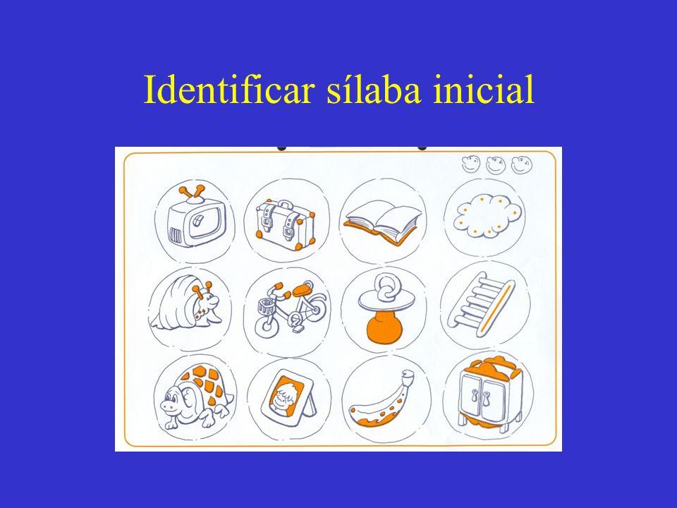 Identificar sílaba inicial