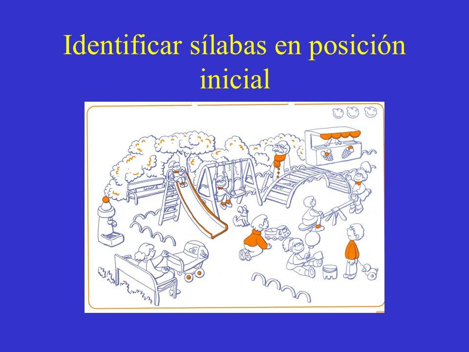 Identificar sílabas en posición inicial
