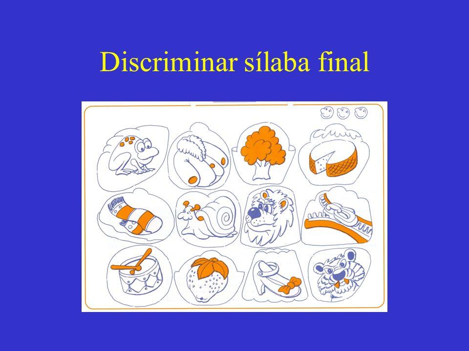 Discriminar sílaba final