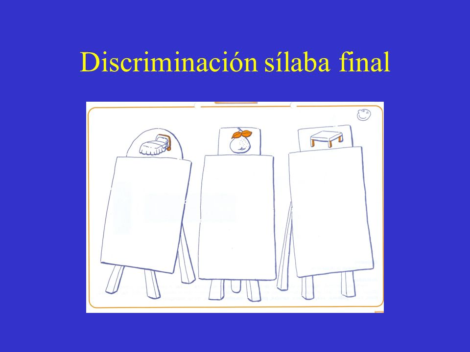 Discriminación sílaba final