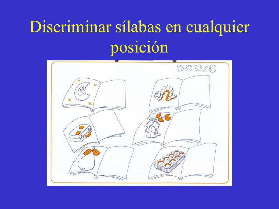 Discriminar sílabas en cualquier posición