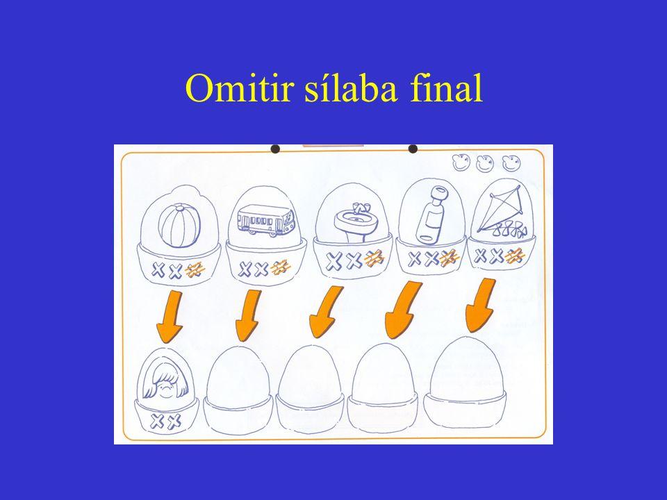 Omitir sílaba final