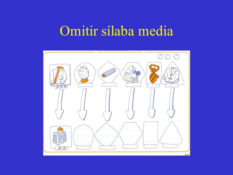 Omitir sílaba media