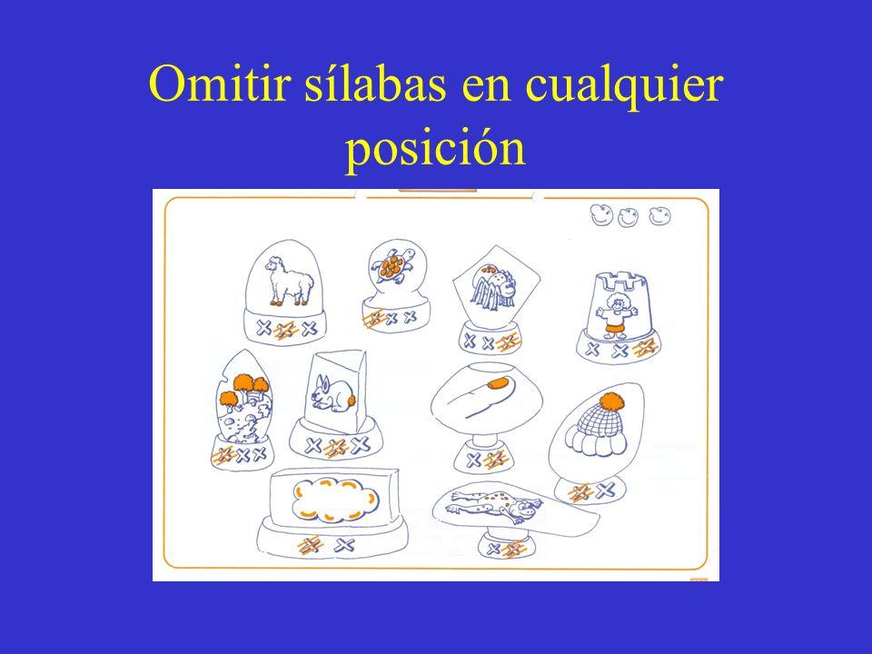 Omitir sílabas en cualquier posición
