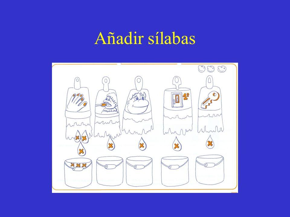 Añadir sílabas