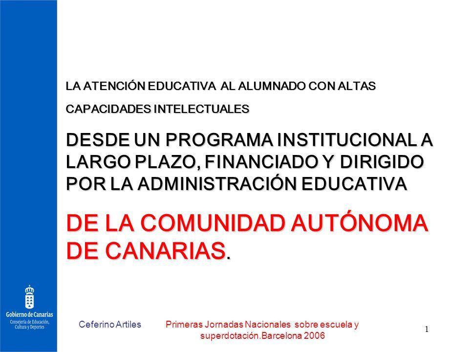 DE LA COMUNIDAD AUTÓNOMA DE CANARIAS.