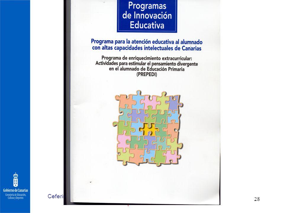 Ceferino Artiles Primeras Jornadas Nacionales sobre escuela y superdotación.Barcelona 2006