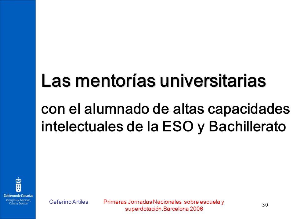 Las mentorías universitarias