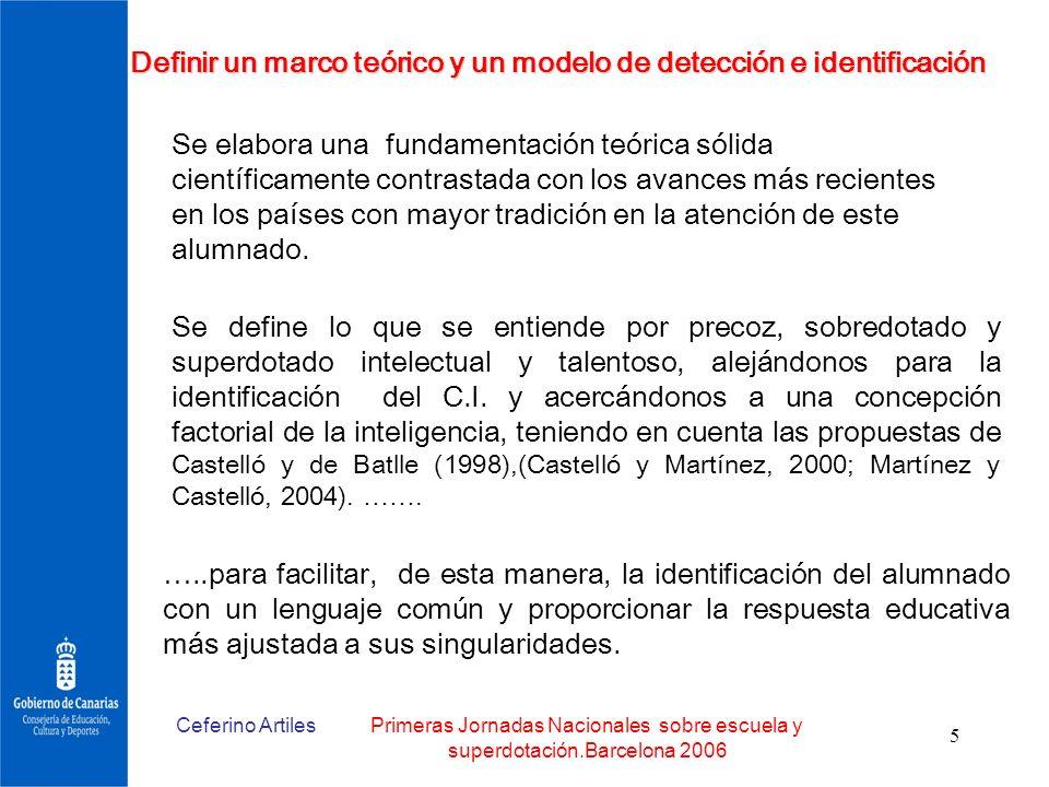 Definir un marco teórico y un modelo de detección e identificación