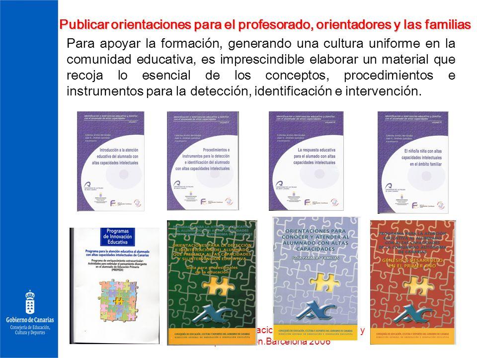 Publicar orientaciones para el profesorado, orientadores y las familias