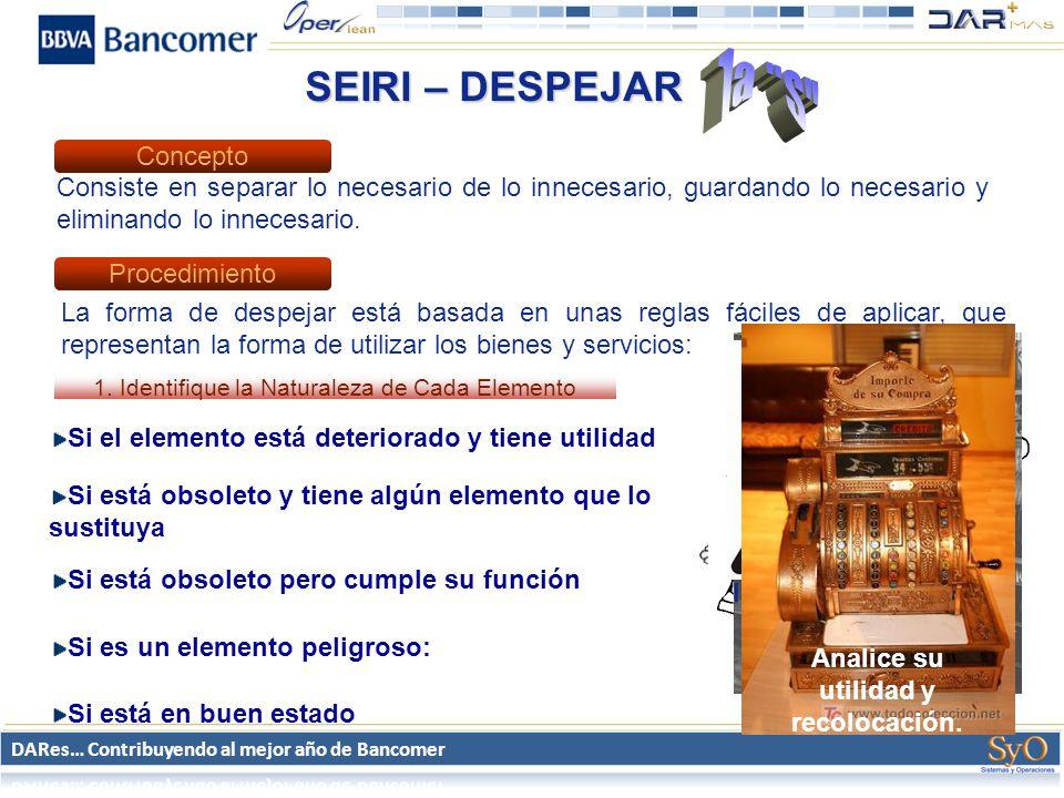 1a S SEIRI – DESPEJAR Concepto