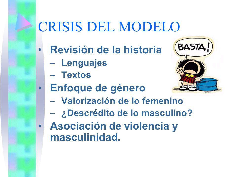 CRISIS DEL MODELO Revisión de la historia Enfoque de género