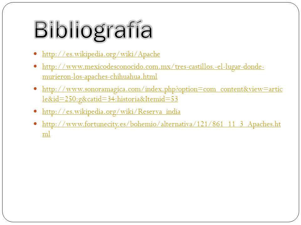Bibliografía http://es.wikipedia.org/wiki/Apache