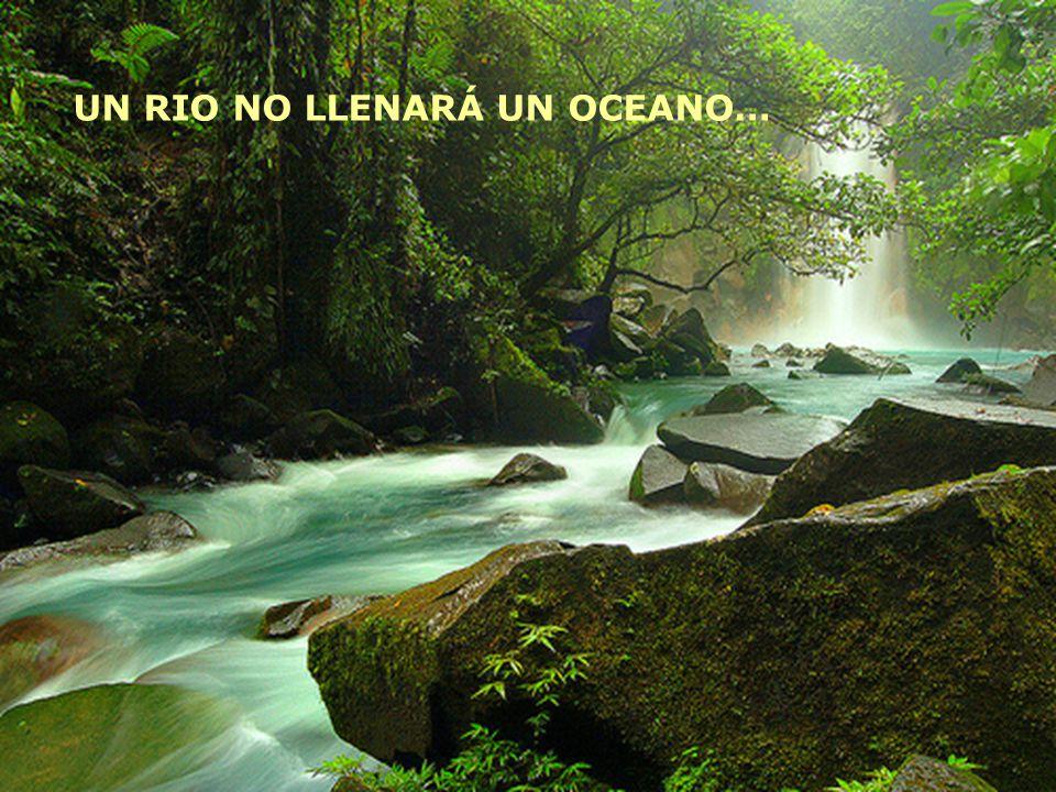 UN RIO NO LLENARÁ UN OCEANO…
