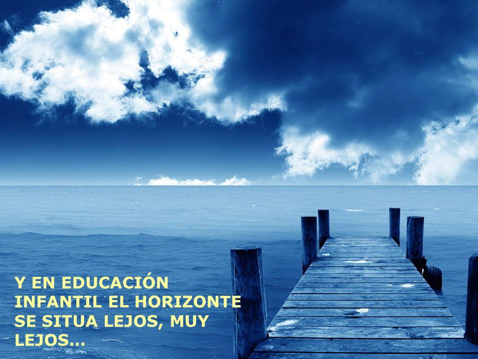Y EN EDUCACIÓN INFANTIL EL HORIZONTE SE SITUA LEJOS, MUY LEJOS…