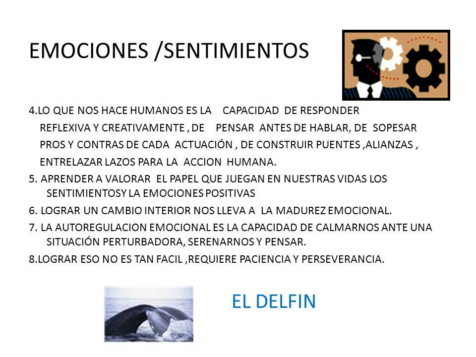 EMOCIONES /SENTIMIENTOS