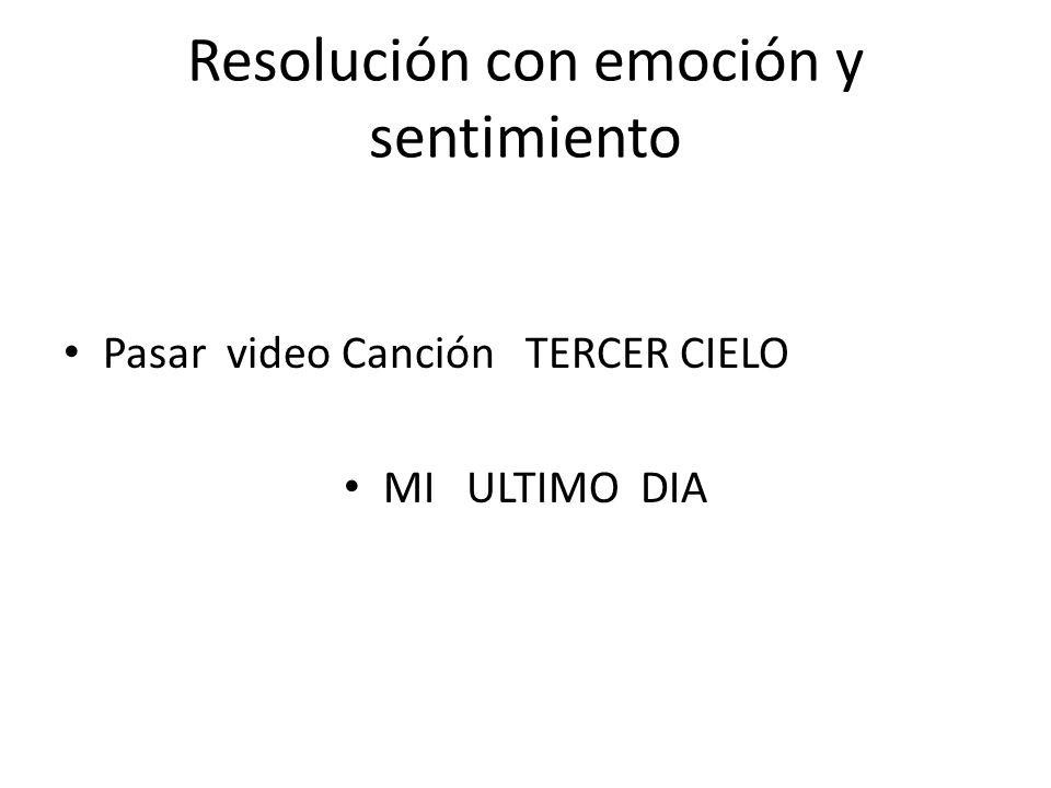 Resolución con emoción y sentimiento