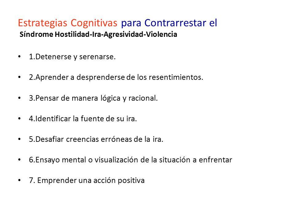 Estrategias Cognitivas para Contrarrestar el Síndrome Hostilidad-Ira-Agresividad-Violencia