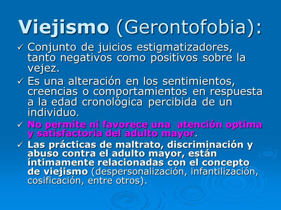 Viejismo (Gerontofobia):