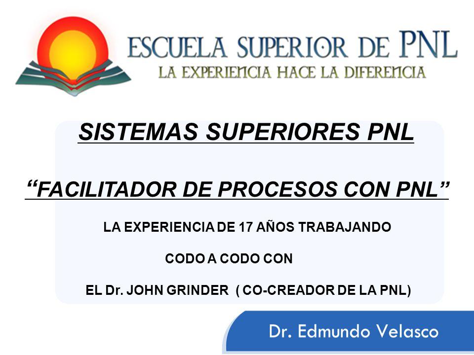 SISTEMAS SUPERIORES PNL FACILITADOR DE PROCESOS CON PNL