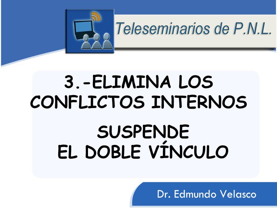 3.-ELIMINA LOS CONFLICTOS INTERNOS