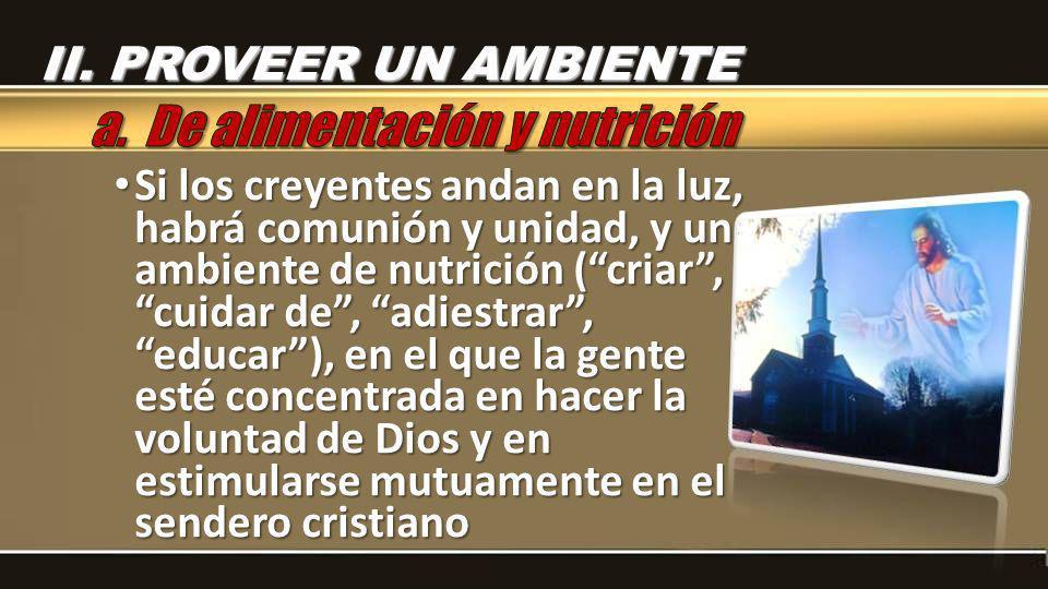 a. De alimentación y nutrición