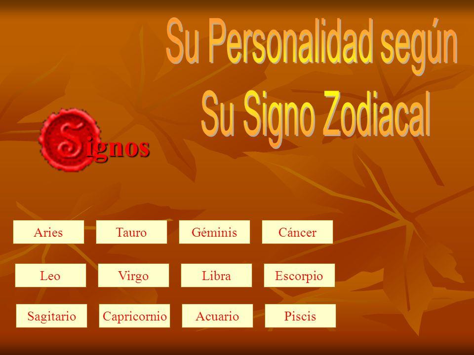 Su Personalidad según Su Signo Zodiacal ignos Aries Tauro Géminis