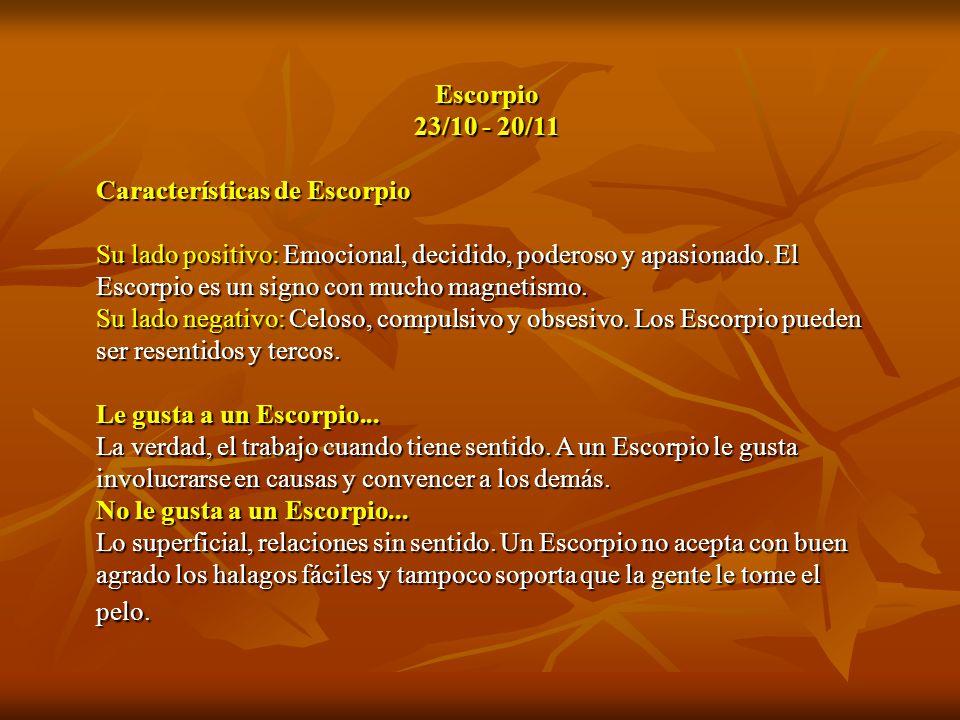 Escorpio 23/10 - 20/11. Características de Escorpio.