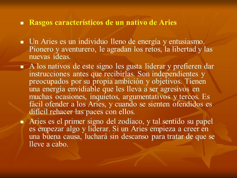 Rasgos característicos de un nativo de Aries