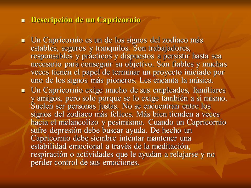 Descripción de un Capricornio