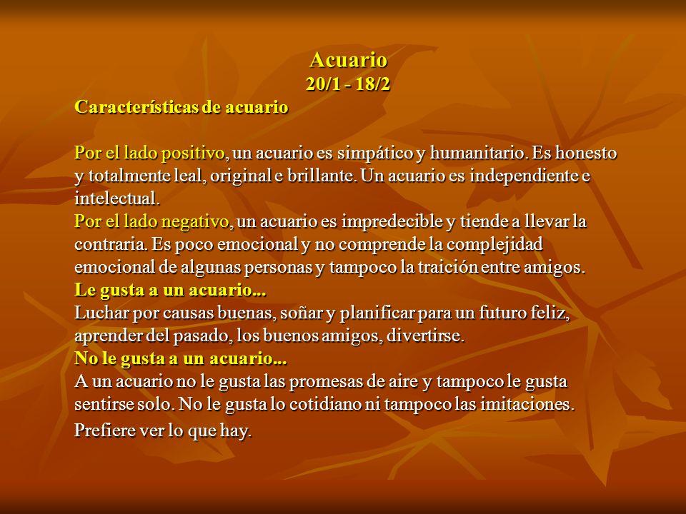 Acuario 20/1 - 18/2 Características de acuario