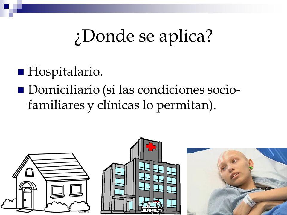 ¿Donde se aplica Hospitalario.