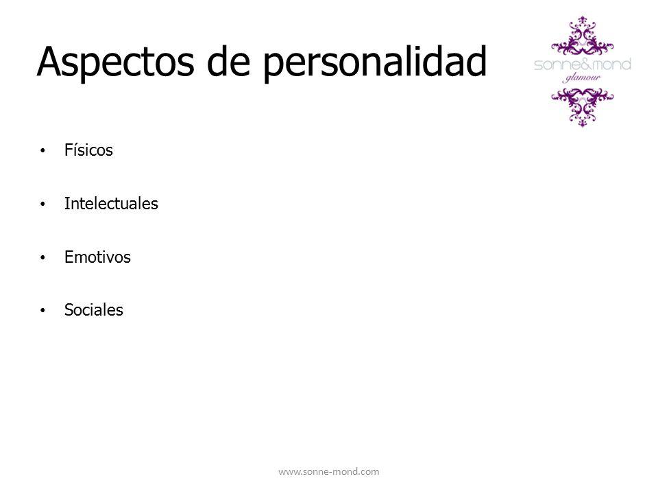 Aspectos de personalidad