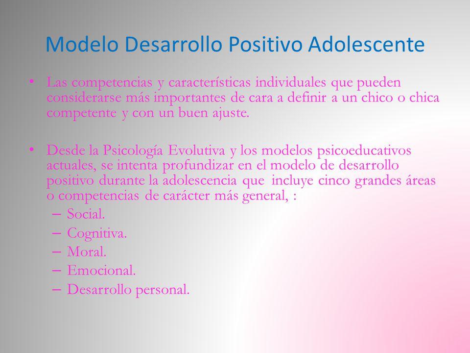 Modelo Desarrollo Positivo Adolescente